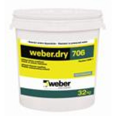 weber.dry 706 Çift Bileşenli Su Yalıtım Malzemesi (Plastikol UDM 1) (32kg)