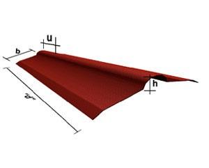 Corrubit Onduline Mahyası Kırmızı 2m boy